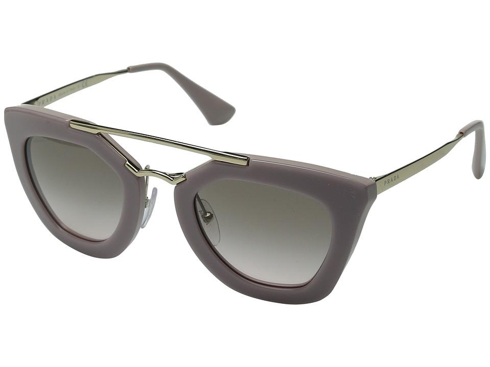 Prada 0PR 09QS Opal Pink/Pink Gradient Grey Plastic Frame Fashion Sunglasses