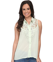 Roper - 9610 Solid Georgette Sleeveless Blouse