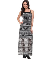 Roper - 9592 Black/White Aztec Print Georgette Dress