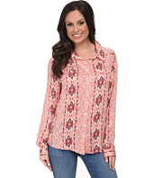 Stetson - 9577 Coral Aztec Printed Rayon Western Shirt