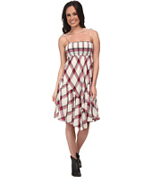 Stetson - 9578 Coral Plaid Sun Dress