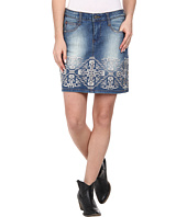 Stetson - Denim Short Skirt w/ Emb On Front Back