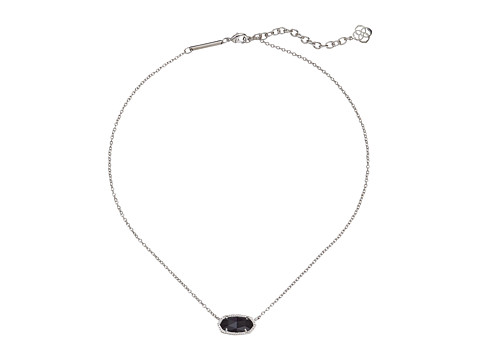 Kendra Scott Elisa Pendant Necklace - Rhodium/Black