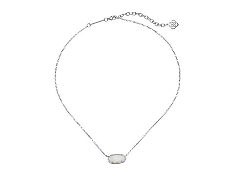Kendra Scott Elisa Pendant Necklace - Rhodium/White Mother of Pearl