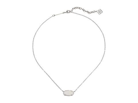 Kendra Scott Elisa Pendant Necklace - Rhodium/Iridescent Drusy