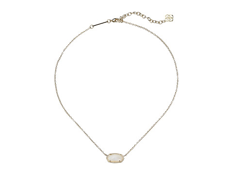 Kendra Scott Elisa Pendant Necklace - Gold/White Mother Of Pearl