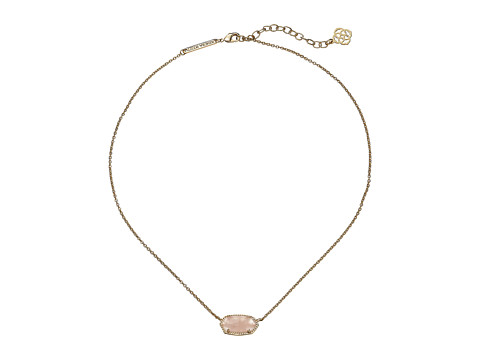 Kendra Scott Elisa Pendant Necklace - Gold/Rose Quartz