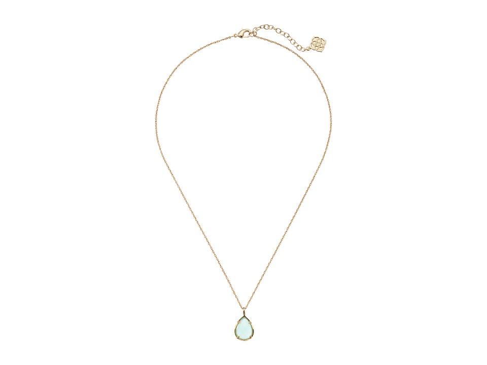 Kendra Scott Kiri Necklace Gold/Chalcedony Necklace