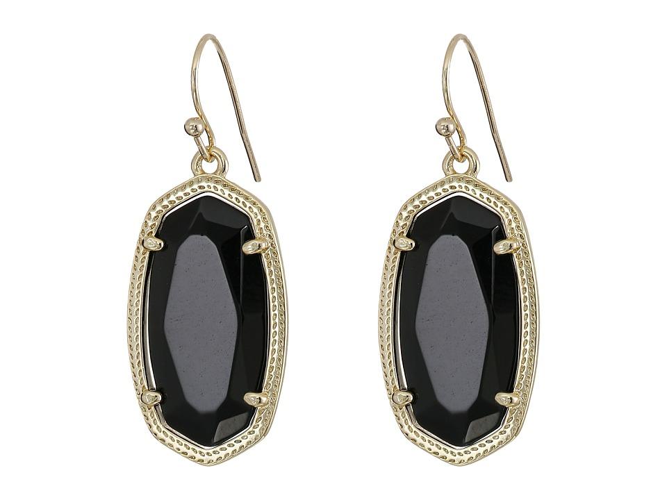 Kendra Scott Dani Earring Gold/Black Earring