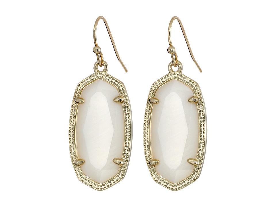 Kendra Scott Dani Earring Gold/White Earring