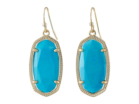 Kendra Scott Dani Earrings - Gold/Turq
