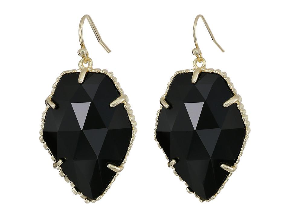 Kendra Scott Corley Earring Gold/Black Earring