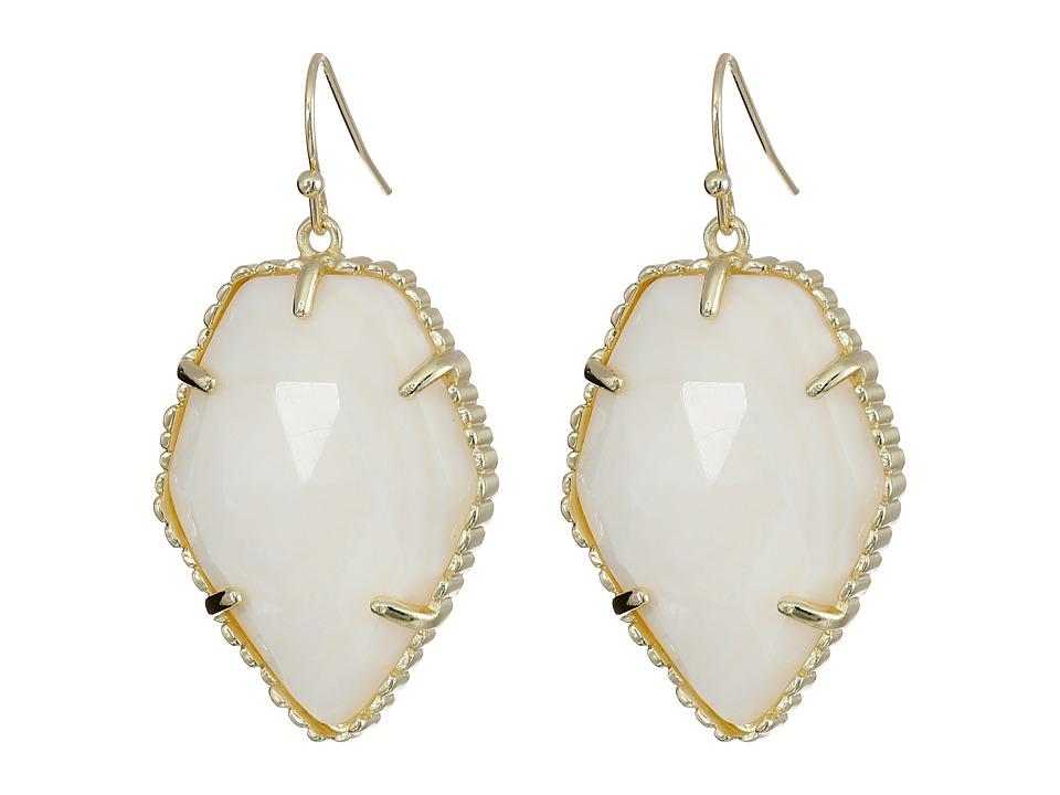 Kendra Scott Corley Earring Gold/White Earring