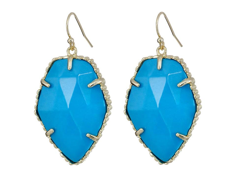 Kendra Scott Corley Earring Gold/Turq Earring