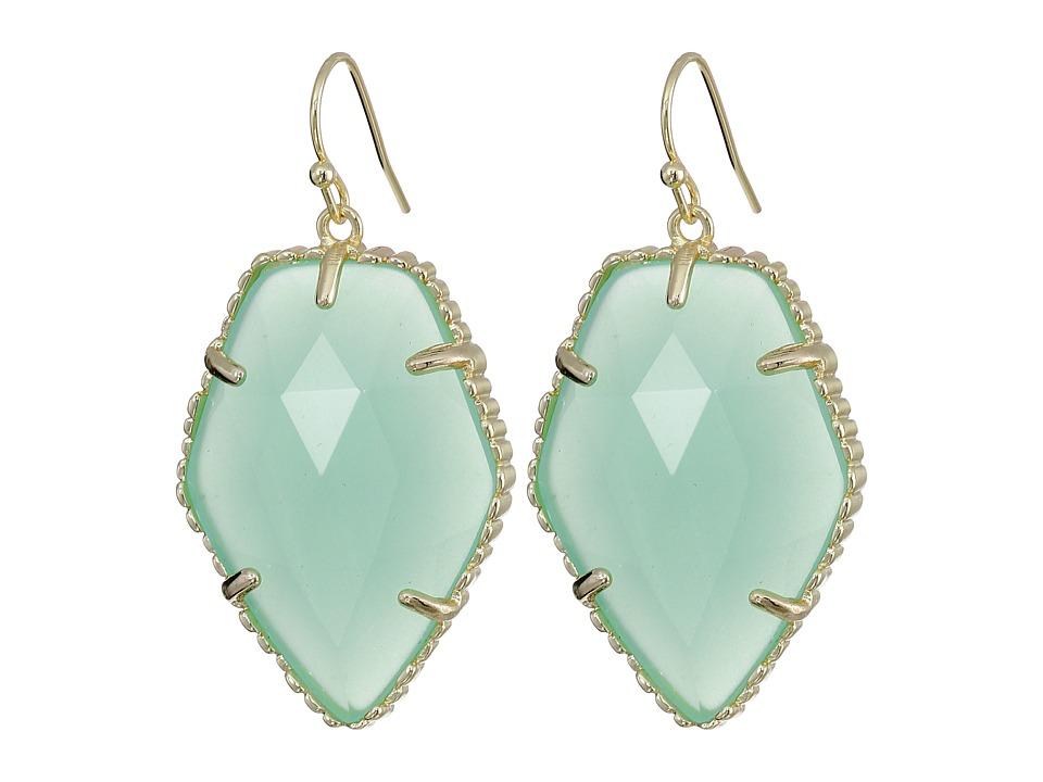 Kendra Scott Corley Earring Gold/Chalcedony Earring