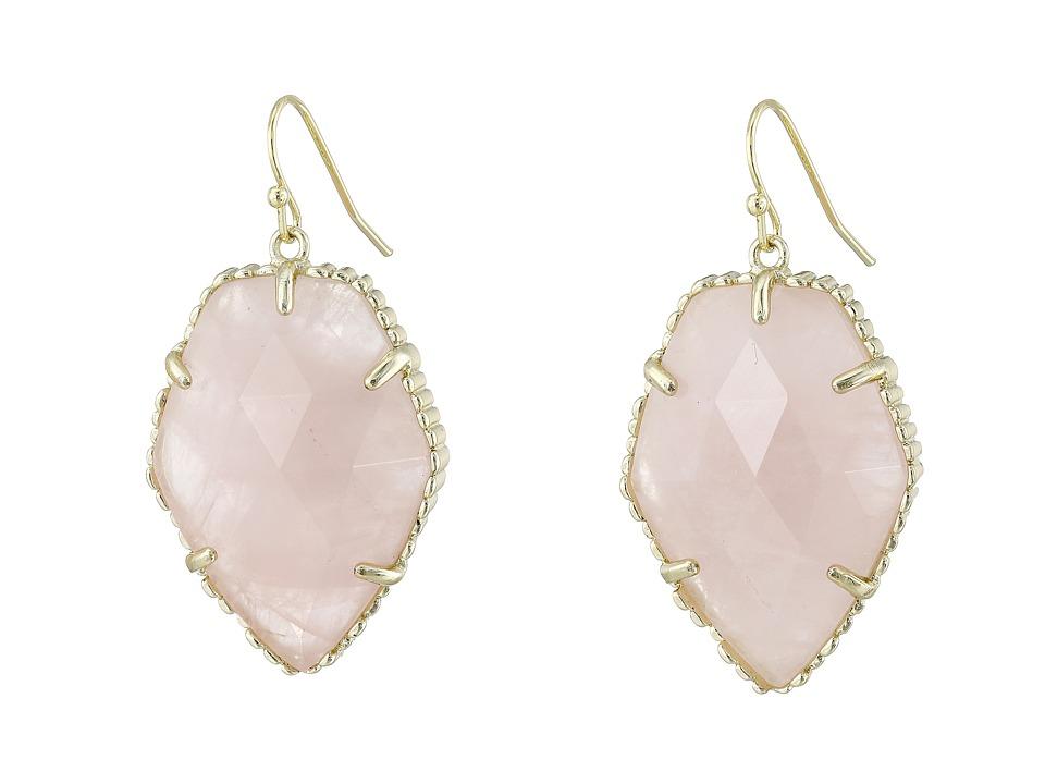 Kendra Scott Corley Earring Gold/Rose Quartz Earring