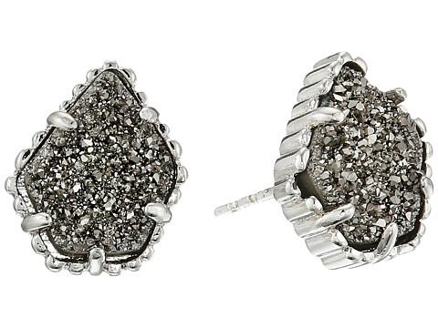 Kendra Scott Tessa Earring - Rhodium Platinum Drusy