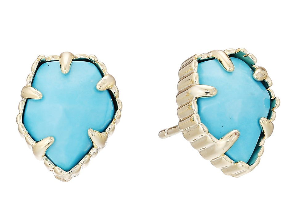 Kendra Scott Tessa Earring Gold/Turquoise Earring