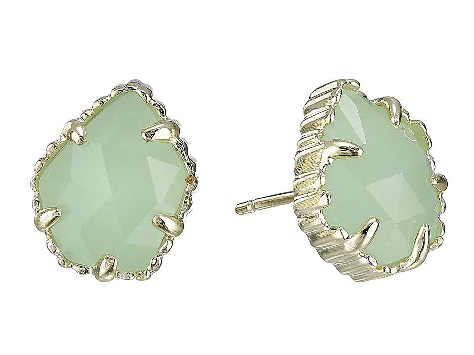 Kendra Scott Tessa Earring Gold/Chalcedony Earring
