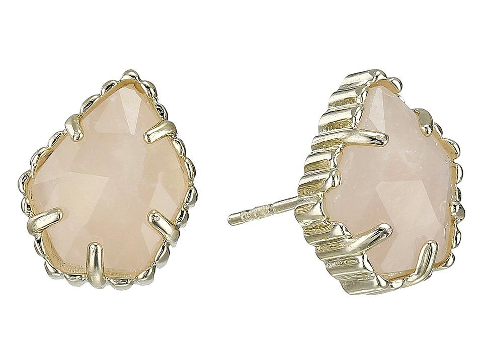 Kendra Scott Tessa Earring Gold/Rose Quartz Earring