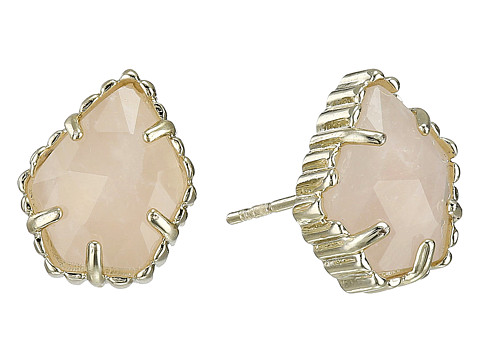 Kendra Scott Tessa Earring - Gold/Rose Quartz