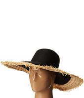 BCBGMAXAZRIA - Textural Frayed Floppy Hat