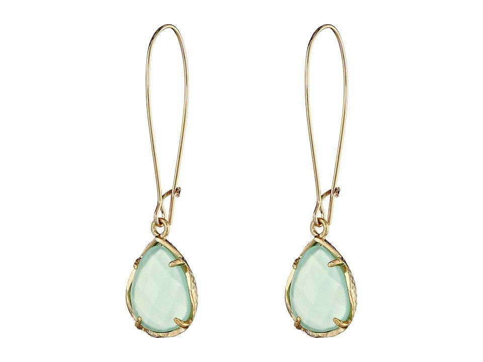 Kendra Scott Dee Earring Gold/Chalcedony Earring
