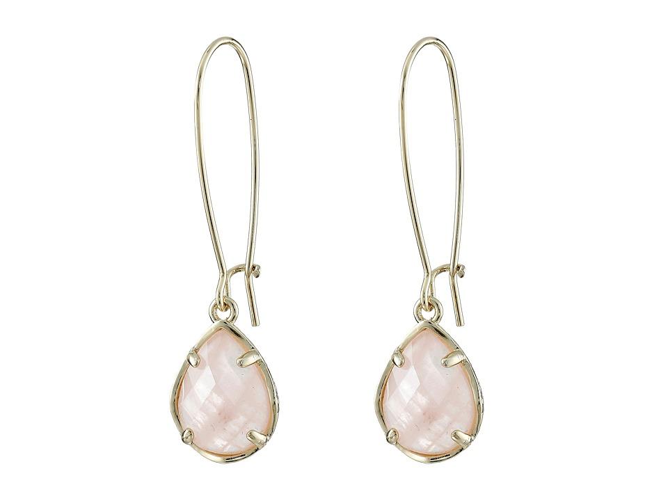 Kendra Scott Dee Earring Gold/Rose Quartz Earring