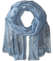 BCBGMAXAZRIA - Linocut Box Evening Wrap Scarf