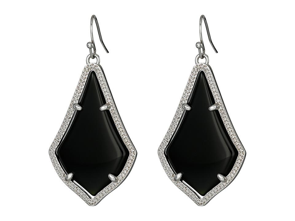 Kendra Scott Alex Earring Rhodium/Black Earring
