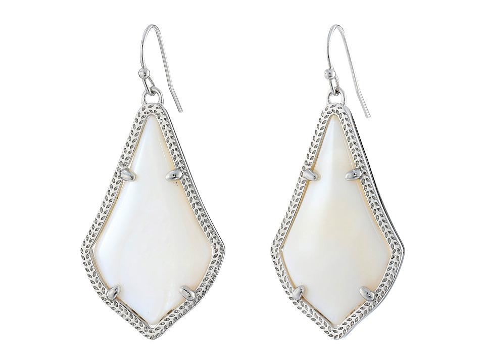 Kendra Scott Alex Earring Rhodium/White Earring