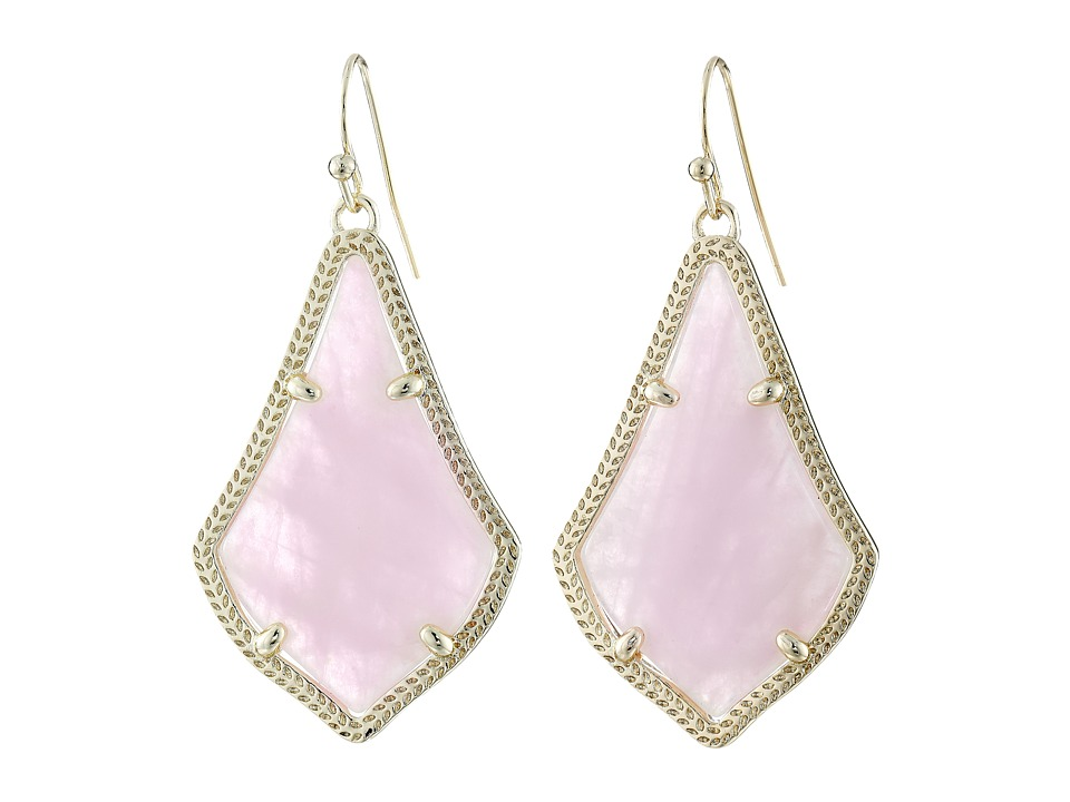 Kendra Scott Alex Earring Gold/Rose Quartz Earring