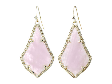 Kendra Scott Alex Earring - Gold/Rose Quartz