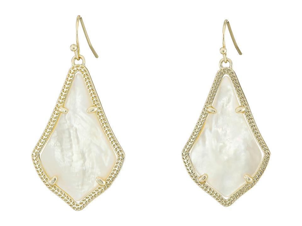 Kendra Scott Alex Earring Gold/Ivory Mother of Pearl Earring