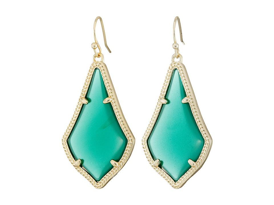 Kendra Scott Alex Earring Gold/Green Earring