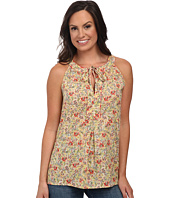 Roper - 9756 Coral Ditsy Floral Printed S/L Top