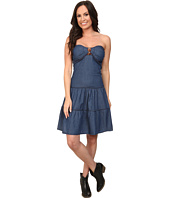 Roper - 9751 5 Oz Indigo Denim Flounced Dress