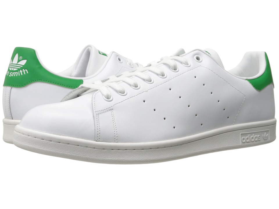 adidas Originals Stan Smith White/White/Green Mens Classic Shoes
