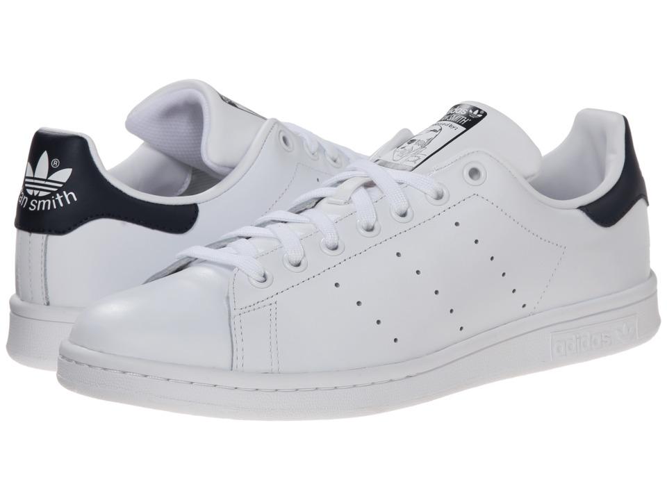 adidas Originals Stan Smith White/White/Navy Mens Classic Shoes