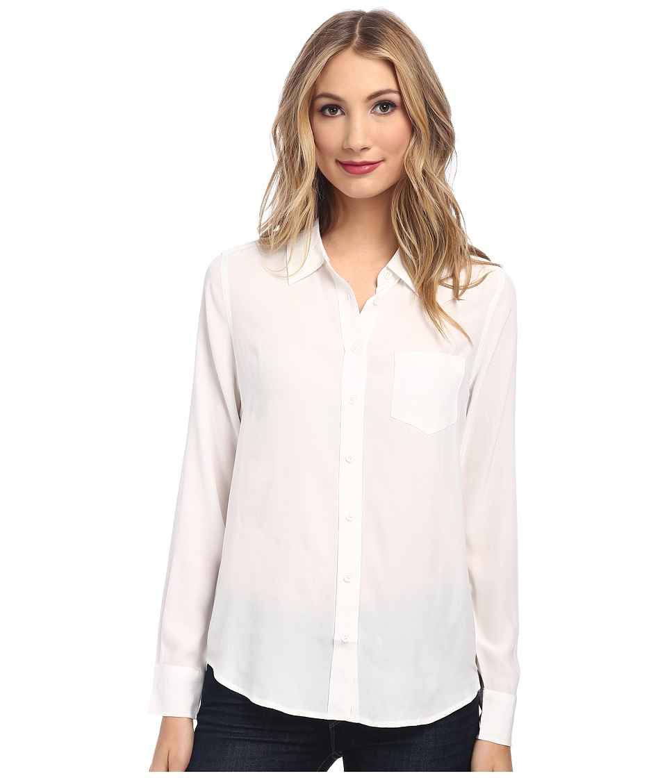 EQUIPMENT Brett L/S Blouse Bright White Womens Blouse