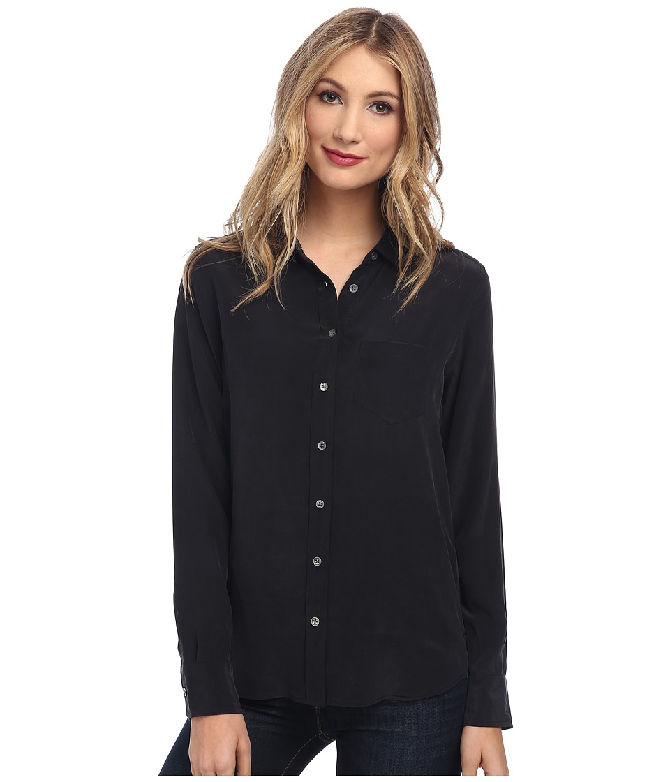 EQUIPMENT Brett L/S Blouse True Black Womens Blouse