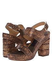 Salvatore Ferragamo - Lizard-Stamped Calfskin Platform Sandal