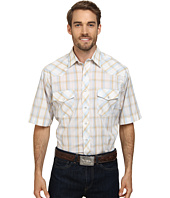 Roper - Big & Tall 9664 Blue & Tan Plaid w/ Gold Lurex