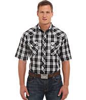 Roper - Big & Tall 9670 Big Black & White Plaid w/ Silver Lining