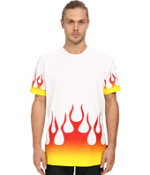 LOVE Moschino - Accented Fire Print T-Shirt