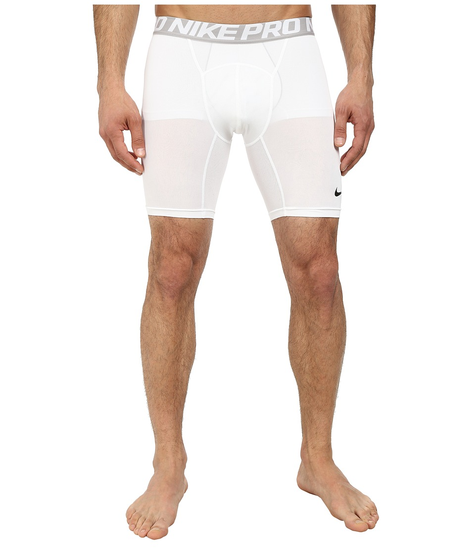 "Nike Pro Cool Compression 6"" Short (White/Black) Men"