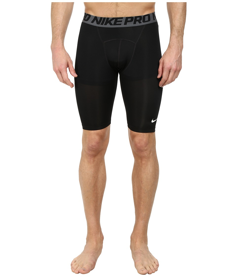 "Nike Pro Cool Compression 9"" Short (Black/Dark Grey/White) Men"