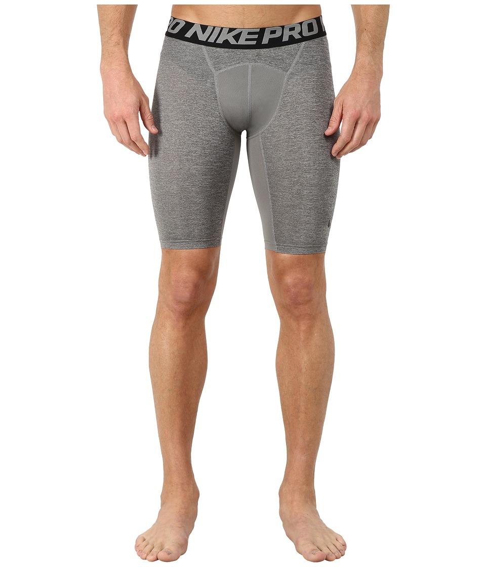 "Nike Pro Cool Compression 9"" Short (Carbon Heather/Black/Black) Men"