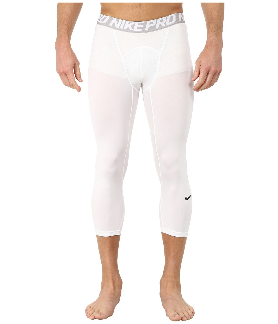 Nike Pro Cool 3/4 Compression Tight (White/Matte Silver/Black) Men