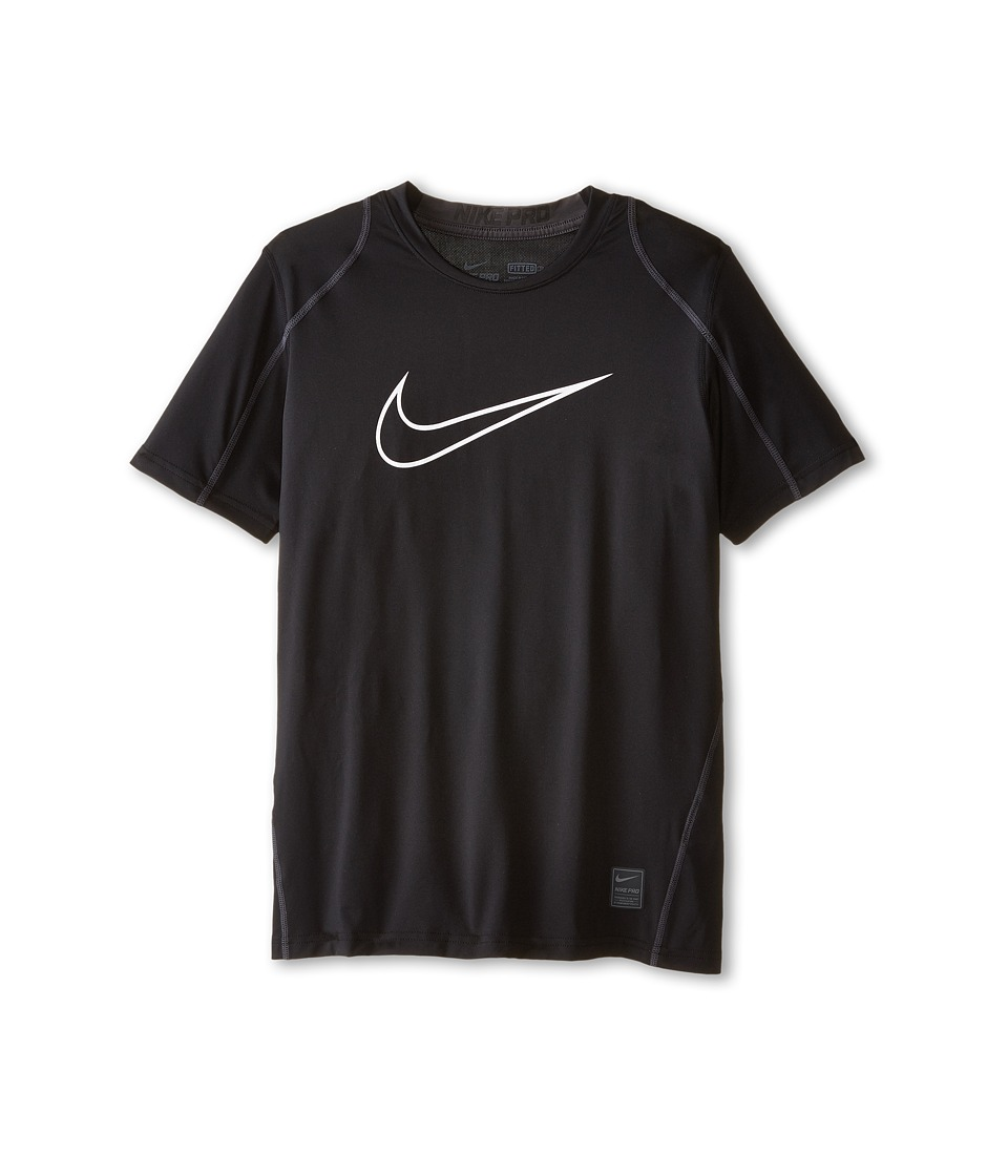 Nike Kids - Cool HBR Fitted S/S Youth (Little Kids/Bigs Kids) (Black/Anthracite/White) Boys T Shirt